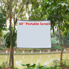 60'' Portable Outdoor Projector Screen 16:9 HD Projection TV Game Clear Image US