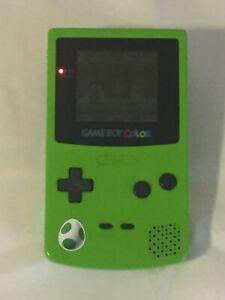 Nintendo Game Boy Color Kiwi Handheld System w/ Xmen (Tested Working)