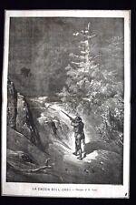 La caccia dell'orso - Disegno di Gustave Doré Incisione del 1869