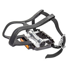 SunLite Alloy Mountain Bike Pedals w/ Clips and Straps 9/16""