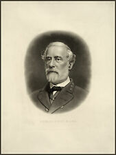 Civil War Lithograph Reproduction: General Robert E. Lee: Fine Art Print