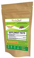 PURE & Natural Grape Seed 100:1 Extract Powder 95% OPC PREMIUM Grade Antioxidant