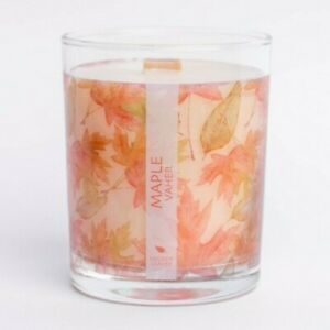 Nordic Wooden Wick Soy Wax Hand Poured Candles Sweet Woody Scented Essential Oil