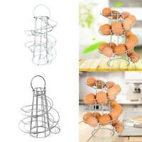 Spiral Design Egg Skelter Dispenser - Stand Storage Rack Up to 24