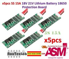5pcs 5S 15A Li-ion Lithium Battery BMS 18650 18V 21V Charger Protection Board