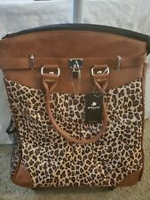 Rollies USA Fun Leopard Print Rolling Laptop Travel Tote Air Compliant