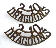 CANADA. PAIR OF 2-10th DRAGOONS SHOULDER TITLES.(METAL)