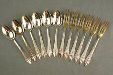 WMF 900 Fächermuster 90/100er Silber schönes altes Kaffeebesteck 6P 12tlg