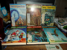 Fantasy & Sci Fi Magazine 1981 6 Issue Lot! w/Robert Silverberg & Other Authors