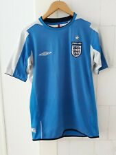 England Football Shirt Umbro White Vintage Training X-Static Jersey Top S Small