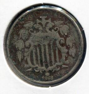 1868 5C Shield Nickel - Lot # NS 213