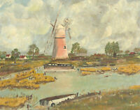 M.R. Standley - 1983 Oil, The Windmill, Norfolk