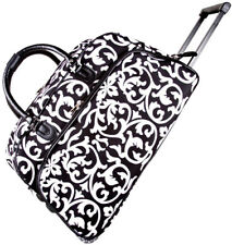 "Women's Damask Print 21"" Rolling Duffel Bag Suitcase Garment Carry-on Duffel Bag"