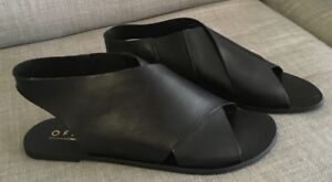 NEW Women's Office London black slingback crossover sandals shoes 39, FREE POST