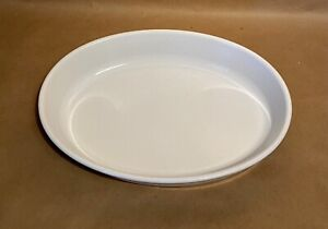 Emile Henry France White Oval Baking Dish