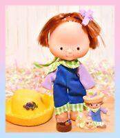 ❤️VTG Kenner Strawberry Shortcake Huckleberry Pie Flat Hands Doll Mini Figure❤️