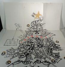 Cartoons film, Buon natale e un buon anno.Poster  serigrafico, Bruno Bozzetto?