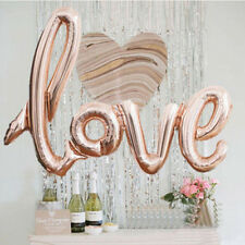 "42"" Rose Gold Love Letter Script Foil Balloon Hen Party Wedding Engagement Decor"