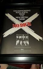 No Dice British Band Rare Original Promo Poster Ad Framed!