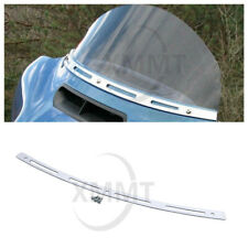 Chrome Slotted Batwing Fairing Windscreen Trim For Harley 1996-2013 Touring Tri