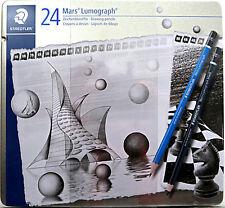 Staedtler Mars Lumograph 24 Drawing Pencils