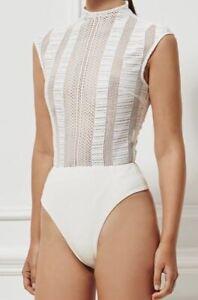Womens bodysuit Misha collection designer SzS  RRP$500 Worn Once  Excellent Cond