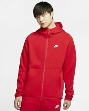Nike MEN'S Sportswear Tech Fleece Full-Zip Hoodie University Red SIZE MEDIUM NEW