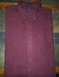 Men's St. John's Bay Easy Care Long Sleeve Button Front Shirt Size 2XLT XXLT