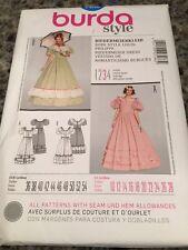 Burda Pattern 7466 Misses Biedermeier Dress Costume Sz 10-28