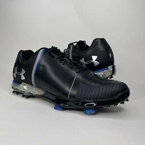 Under Armour Mens Spieth One Black Blue Golf Shoes Size 7.5 1288574-001