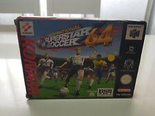 International superstar soccer 64 pal completo- Nintendo 64 - PAL EUR -