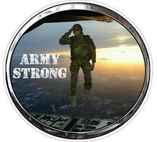 """United States Army Airborne Saluting Soldier Decal 6"""" FREE SHIPPING"""