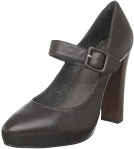 Joie Platform Mary Jane leather deep chocolate brown unworn size 40 9