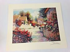 Alex Perez Seriograph Village View III Color On Paper Unframed 1999 Signed