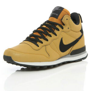 """Reflective"" Nike Internationalist Mid QS in Bronze/Black, Size 46"
