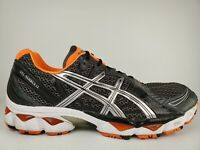Asics Gel-Nimbus 12 Mens Running Shoes Metallic Silver/Orange Grey T045N Size 15