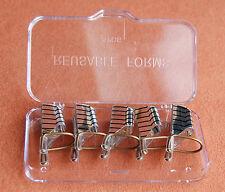 5 Schablonen in silber für Gel und Acryl  Reusable Modellierschablonen