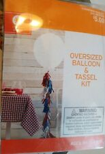 "Decor by Target Oversized Giant Balloon & Tassel Garland Kit 36"" Dia Usa New"