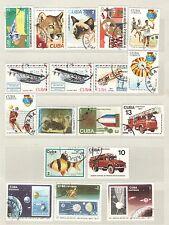 q7916 - CUBA - 1977 - LOTTO USATO TEMATICI N°1994/2037 - VEDI FOTO