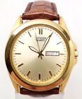 Citizen BF0582-01P Men's Quartz Brown Strap Gold Tone Steel Watch BROKEN!!