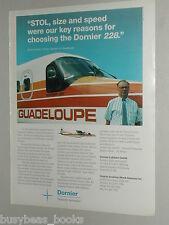 1989 Dornier ad, Dornier 228, Air Guadeloupe