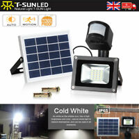 10W Solar Powered 20 LED PIR Motion Sensor Security Flood Light Spot Wall Lamp