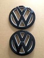 VW GRILLE HATCH Gloss Black white Badge Set for VOLKSWAGEN GOLF 7 MK7 GTI R