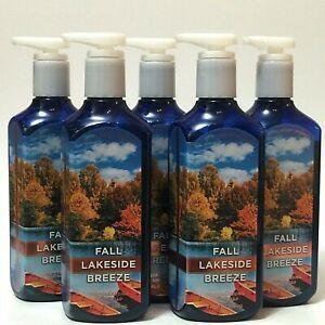 5 BATH & BODY WORKS FALL LAKESIDE BREEZE DEEP CLEANSING HAND SOAP 8 FL OZ LOT