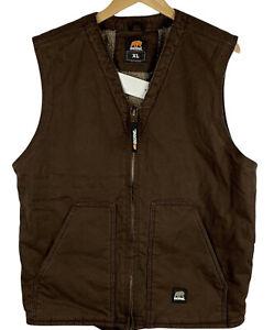 Berne Men's Size XL Brown Vest Workwear Durable Comfortable