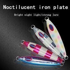 4.3inch Fishing Vertical Jigs Luminous Slow Jigging Lures Baits Metal Spoon 150g