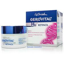 Gerovital H3 Classic Retinol Wrinkle Prevention Cream, 50 ml, 30+