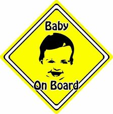 Baby/Child On Board Car Sign ~ Baby Face Silhouette ~ Neon Yellow