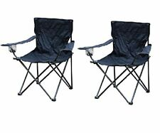 2x FOLDING CAMPING FISHING CHAIR SEAT FOLDABLE BEACH OUTDOOR HIKING PICNIC BBQ