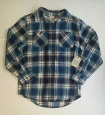 Faded Glory Boy's Shirt size L/G (10-12) Plaids Checks Blue White New